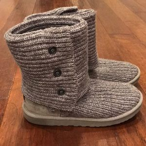 UGG Classic Cardy Knit Boots Size 10